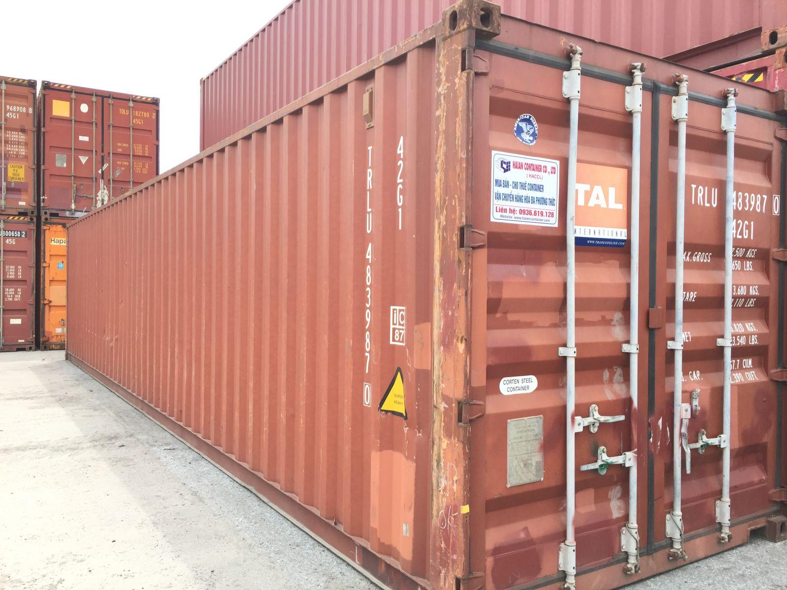 Bên ngoài container kho 40 feet chất lượng tốt tại Hải An Container