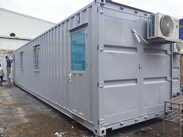 quy trinh lam container van phong